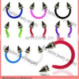 stainless steel with cone captive bead rings lip rings earring body piercing jewelry rings