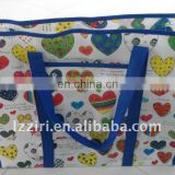 Non wove collecting zipper bag