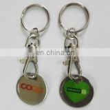 wholesale metal coin hold keychain for promotional gifts