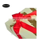 RED Pre-tied Ribbon Bow with Elastic band for gift box