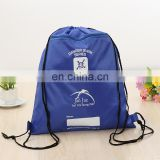 free samples TCCC AUDITY FACTORY Custom logo printed cheap nylon sports bag/polyester drawstring bag