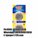 2pcs/pack stainless steel scourer cleaning ball
