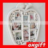Oxgift Factory direct apple-shaped photo frame wall creative combination of green plastic frame