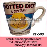 V Shape Wholesale Custom Prited Prormotional Colored Ceramic Mugs for Tableware