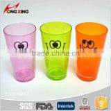 Transparent colorful cartoon printing 21oz party reusable plastic cup