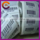 Small MOQ sewing woven lables barcode printed custom washing labels
