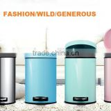2016 colorful fashion design waste bin trash bin