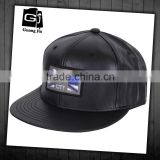 Blank Leather Snapback Cap Hip Hop Baseball Cap Leather strap back Hat