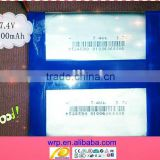 7.4V2000mAh rechargeable battery pack for tablet pc