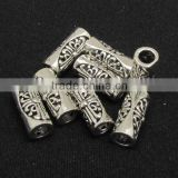 JS1131 Wholesale Filigree tibetan silver tube beads,tibetan silver jewelry making supplies