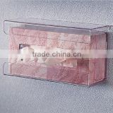 Clear Acrylic Tissue Box Holder,Handy wall-mounted tissue box holder