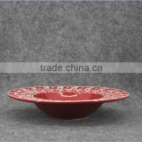 Christmas series of embossed 3D ceramic soup bowl