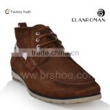 Roman men high top shoes cheap suede leather ankle boots wholesale winter boots