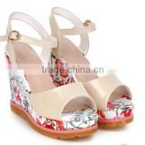 nurse shoes with wedge heels  bridal shoes white with decoration wholesale women shoes 2015