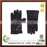 Snap-Tab cashmere-lined Leather biker Gloves