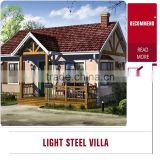 Economic villa modular house /light steel frame house/prefabricated china home decor wholesale