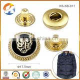 Professional Custom Embossed Logo Jacket Snap Button                                                                         Quality Choice
