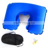 Outdoor U shape inflatable travel neck pillow                                                                         Quality Choice