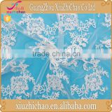 M0043B(5.0)suppliers direct selling high quality ivory mesh embroidery lace fabric for wedding dress