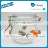 Wholesale Clear Airtight Glass Sugar Jar Glass Jar For Food Honey Jam Round Glass Jar