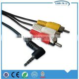 Factory high speed 3.5mm audio coaxial cable 90 degree audio cable volume control audio cable