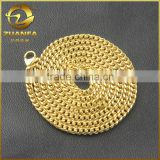 wholesale good quality gold plated stainless steel cuban chain necklace gold chains men's                                                                                                         Supplier's Choice