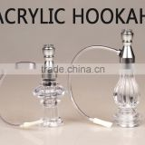 2016 hot models perfume bottle and vase style disposable hookah hose