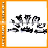PGHD0593 Wholesale mixed design black hair accessories children snap metal hair clips