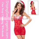 HOT Sexy Lingerie Women Underwear Babydoll Sleepwear Nightwear Costume Christmas Santa Claus Costume