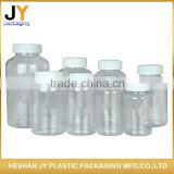 Many size transparent color injection Plastic Pill Container child proof cap PE pill bottle plastic bottle