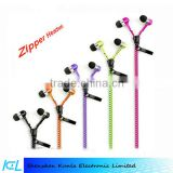 2015 wholesale zipper earphone, headset, headphone for IOS&Android smartphone, MP3 Player and PSP gamer