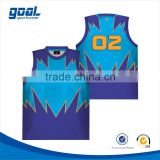 100% polyester breathable new design customized kids fashion round neck basketball jersey