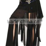 SWEGAL Wholesale cheap black belly dancing hip scarf trible skirt wrap dance waist belt SGBDW13016
