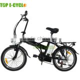 "Top E-Cycle High Quality Popular Ebike CE Approval Foldable Electric Bike With 20"" Wheels"