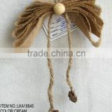 handmade artificial flowers burlap butterfly with polyfaom balls christmas decorations ornament