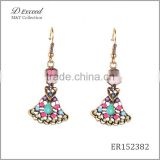 Hot New Designs Ladies/Women's Jewellery Earrings Bohemian Ballet Girl Gold/Silver Plating Drop Earrings
