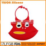 Silicone food and crumb catcher adult baby bib