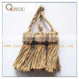 tassels tieback jute tassels for Cellphone, Key, Bottle, Cap, jewelry, Curtain, Garment, Home Textile