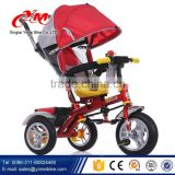 4/1 push car kids tricycle double seat / tricycle for children / three wheels baby trike with canopy