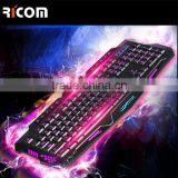 12 years factory direct LED light gaming computer keyboard and mouse--LK611--Shenzhen Ricom