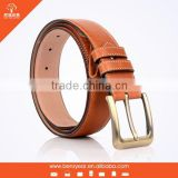 Fashion Brown Cowhide Leather Men's Soft Leather Belt
