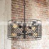 11.15-5 beautiful geometric symmetry Give your living space a modern upgrade Metal Lattice 6-Light Bronze Pendant Light