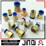 shipping from china one touch union straight female 10mm brass with nickel plated fitting
