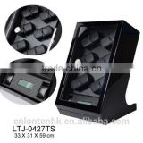 Touch screen with LED wooden watch winder