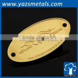 Factory custom gold silver two holes furniture metal nameplate pin tag                                                                         Quality Choice
