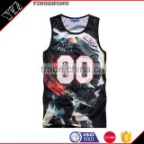 Yinghzong apparel factory Summer Sleeveless Vest Printed Blouse Casual Lady T-Shirt Apparel men Fitness Slim Tank Top