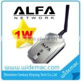 802.11b/g 1000mW 54Mbps Realtek 8187L/RT3070 Chipset Alfa Awus036H Alfa USB Wifi Adapter with 5dBi & 7dbi Detachable Antenna