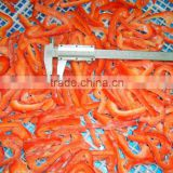 Frozen red pepper strip IQF red pepper with high quality;IQF red pepper dices