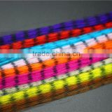 Assorted Colors Synthetic Fibres Zebra strips Veins Pseudo Hair Fibers Black Barred Fly Tying Materials