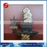 trilobite fossil stone boat model for other home decoration
